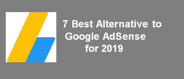 7 Best Alternative to Google AdSense