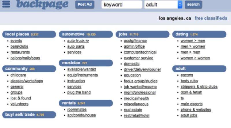 Backpage Alternatives websites 2020