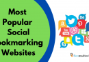 10 Most Popular Social BookmarkingWebsites